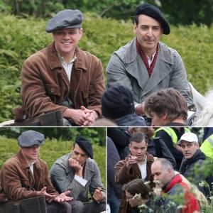 Matt-Damon-George-Clooney-Set-Monuments-Men