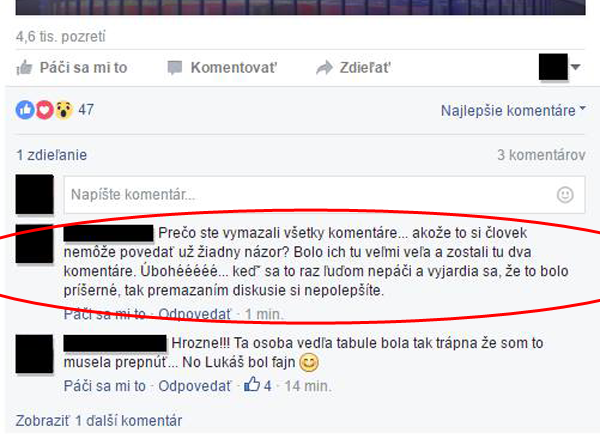 koleso stastia markiza negativne komentare mazanie facebook1